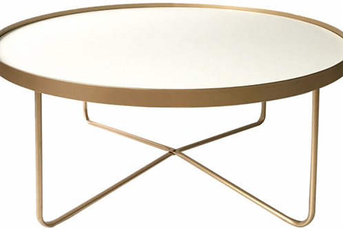 Gold & White coffee table