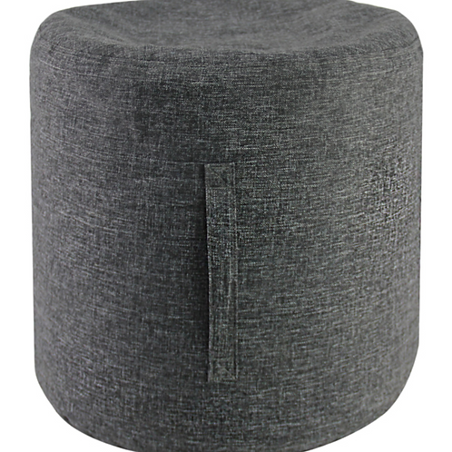 Linen Look Footstool -Grey