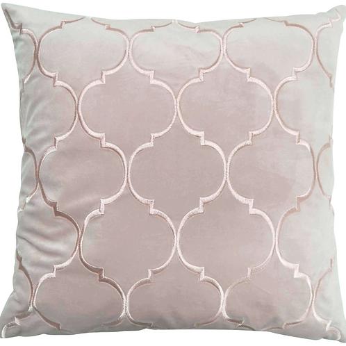 Blush Alexander velvet cushion