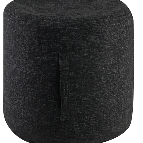 Charcoal Linen Look Footstool