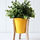 Thumbnail: Malik Planter - Small - Tin and Timber Sunshine Yellow