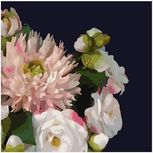 Midnight florals canvas