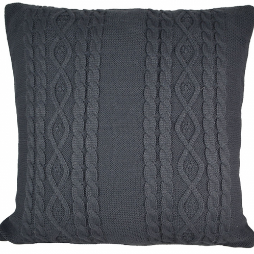 Knitted winter cushion