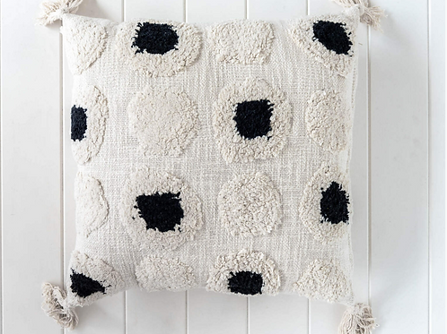 Indoor Cushion - Shimla - Natural/Black - 45 x 45