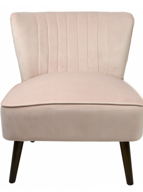 Blush Velvet Sitting Chair