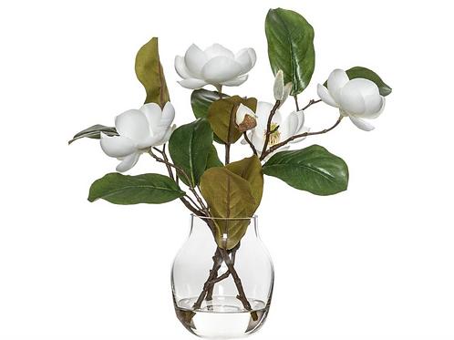 Magnolia spray in vase