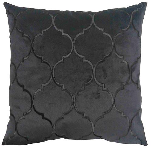 Black Alexander velvet cushion