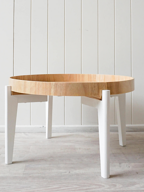 Billie coffee table | White / Natural