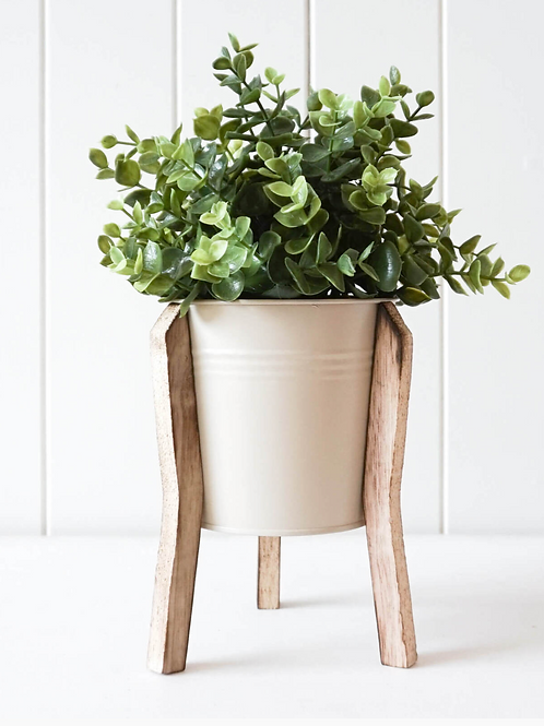 Malik Planter Small - Tin and Timber - Sand