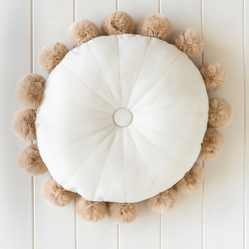 Round Powder Puff Neutral - 37cm