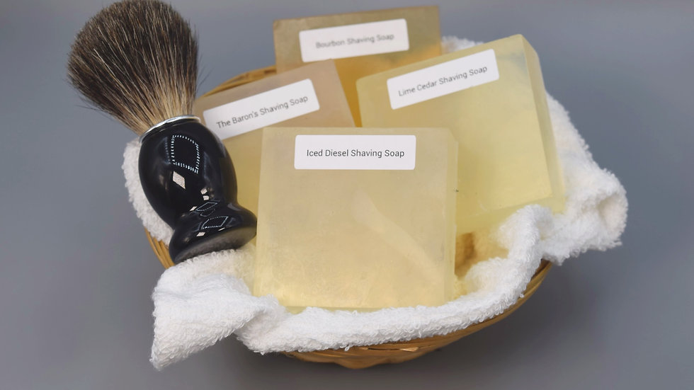 Shaving Soap Gift Basket