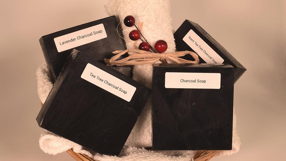 Charcoal Soap Gift Basket