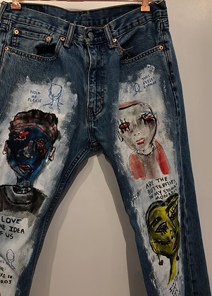 "Rebecca Lipsitch, Unisex Jeans - ""An eclipse, if you will"""