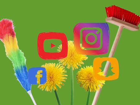 Ménage printanier pour des médias sociaux spic and span