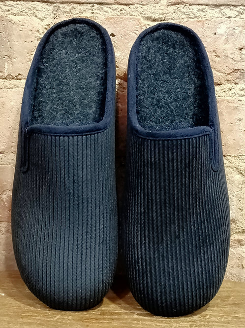 Mule Chaussons velours marine