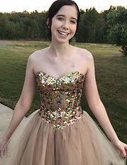 Angel Heart of Hope Bella in gold dress