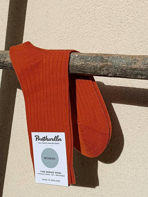 Chaussettes femme laine merinos Orange
