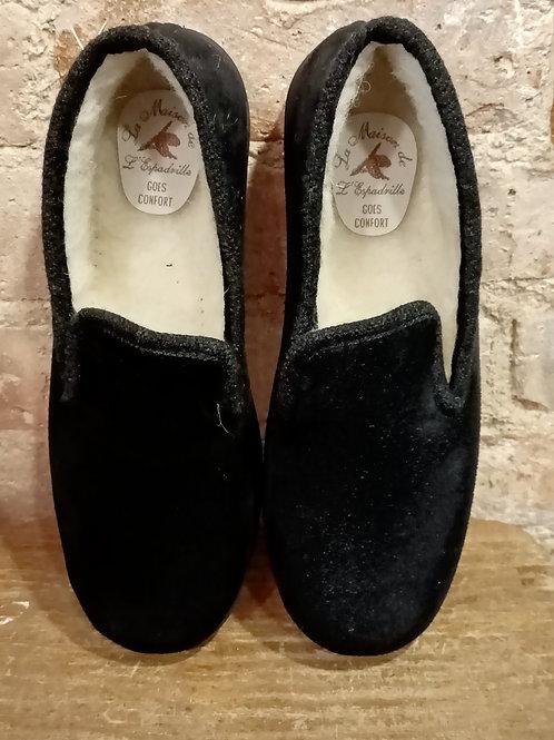 Charentaise velours noire