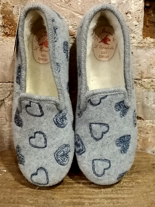 "Chaussons ""Charentaise"" gris"