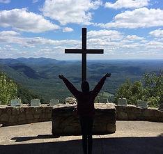 Angel Heart of Hope Bella Praising God on mountain top