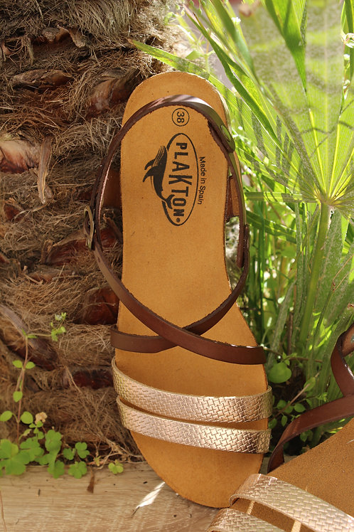 "Sandales Plakton ""Mam-Aloha"" Cipria Vison"