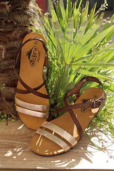 Ane Thon sandales plakton