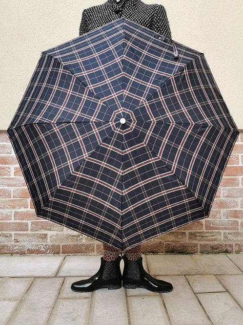 Parapluie à carreaux marine