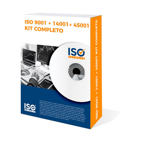 Kit Completo Iso 9001:2015, 14001:2015, 45001:2018
