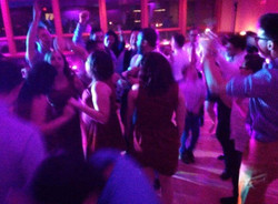 Dance floor is packed and lit!