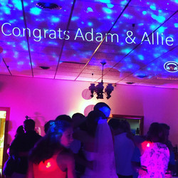 Names projected on ceiling