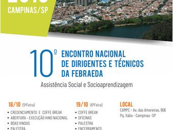 Campinas recebe o 10º Encontro Nacional de Dirigentes e Técnicos da Febraeda