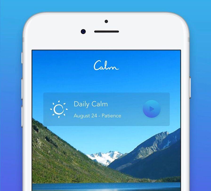 Calm app.
