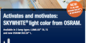 An ad from the 2000s for the SKYWHITE Lamps I installed