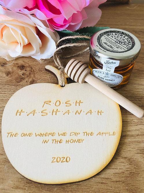 Rosh Hashanah engraved Apple plaque