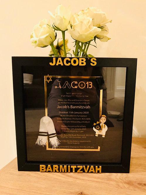Invitation box frame