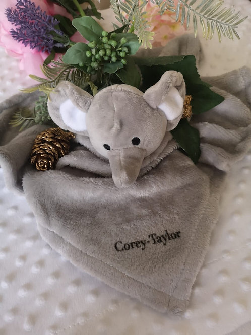Personalised baby comforter blankets