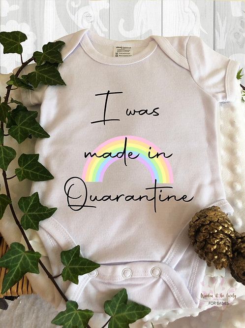 Quarantine baby vest/bodysuit|made in quarantine new baby gift|Baby announcement