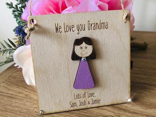 Personalised Grandma plaque