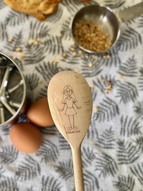 Personalised wooden spoon