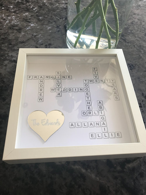 Scrabble style frame