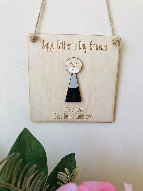 Personalised Grandad plaque