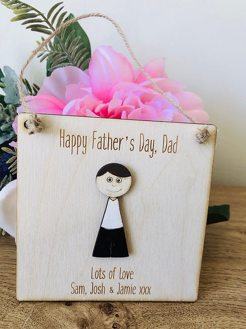 Personalised Fathers Day/dad plaque