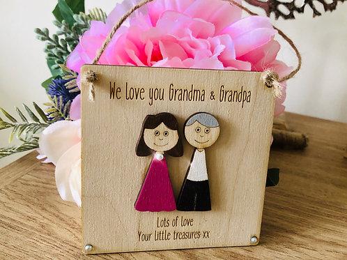 Personalised Grandparents plaque