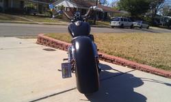 Honda ace custom black paint