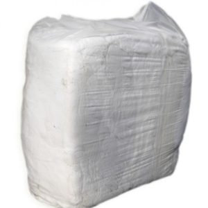 Vacuum Packed White T-Shirt Rags