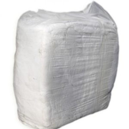 Vacuum Packed White T-Shirt Rags