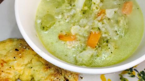 Skinny Cheesy Veggie Soup
