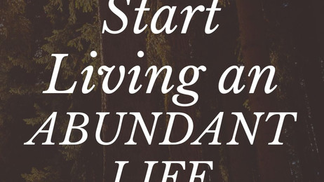 ✨Start to live a life of ABUNDANCE today ✨