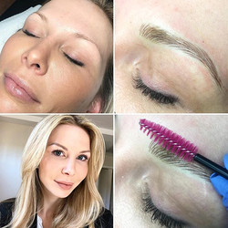 Natural brows - microblading only.  Touc