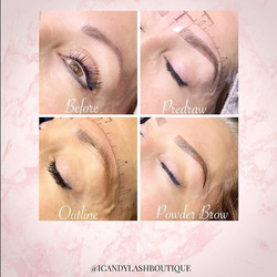 Perfect brows require many steps.  We al